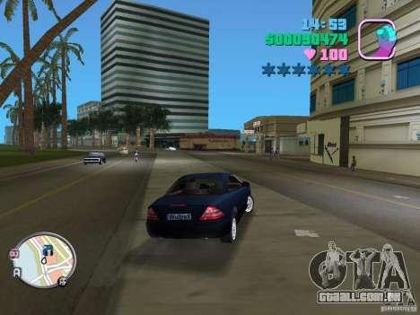Mercedes-Benz E350 para GTA Vice City vista traseira esquerda