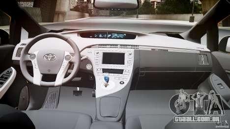 Toyota Prius LCC Taxi 2011 para GTA 4 vista de volta