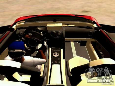 Lamborghini Reventon Roadster para GTA San Andreas vista traseira
