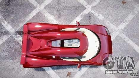 Koenigsegg CCRT para GTA 4 traseira esquerda vista