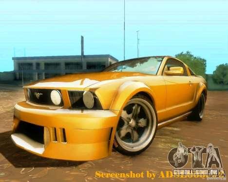 Ford Mustang GT 2005 Tunable para GTA San Andreas traseira esquerda vista