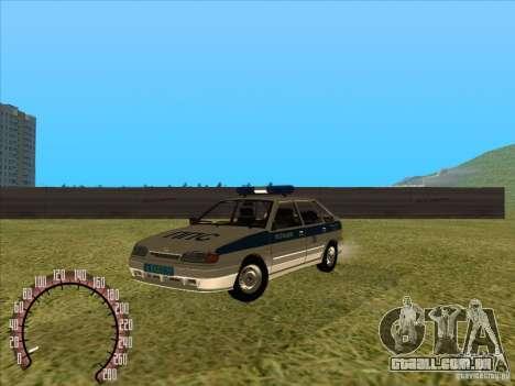 Ваз 2114 polícia russa para GTA San Andreas