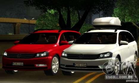 Volkswagen Passat B7 2012 para GTA San Andreas vista superior