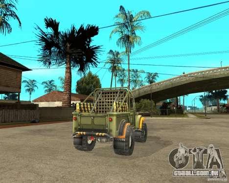 GAZ 69 julgamento para GTA San Andreas traseira esquerda vista