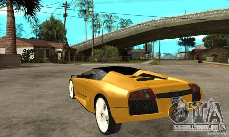 Lamborghini Murcielago Roadster Final para GTA San Andreas traseira esquerda vista