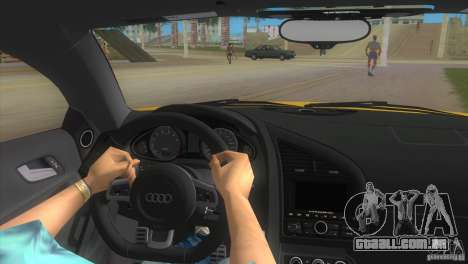 Audi R8 V10 TT Black Revel para GTA Vice City vista direita