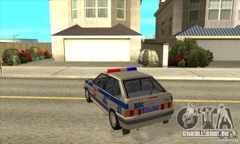 DPS DE ВАЗ 2114 para GTA San Andreas traseira esquerda vista