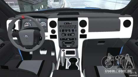 Ford F150 Racing Raptor XT 2011 para GTA 4 vista direita