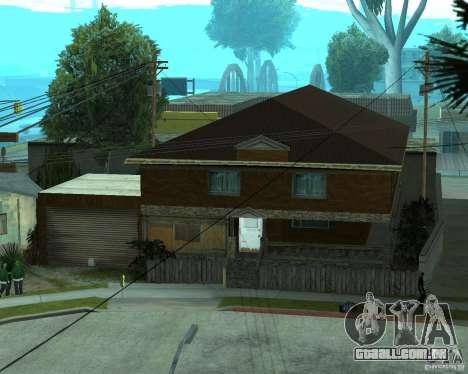 CJâ casa nova para GTA San Andreas quinto tela