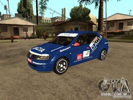 Dacia Logan Rally Dirt para GTA San Andreas vista interior