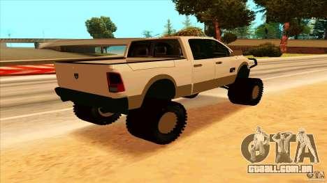 Dodge Ram 2500 4x4 para GTA San Andreas traseira esquerda vista