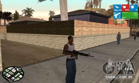 Windows 8 HUD para GTA San Andreas segunda tela