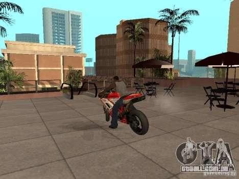 Ducati 1198R para GTA San Andreas traseira esquerda vista
