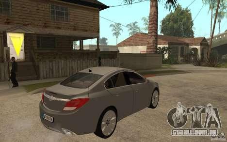 Opel Insignia 2010 para GTA San Andreas vista direita