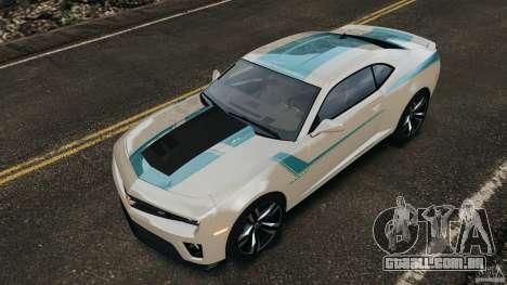 Chevrolet Camaro ZL1 2012 v1.2 para GTA 4 rodas