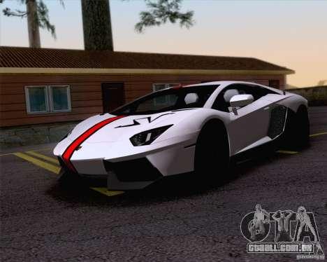 Trabalho de pintura Lamborghini Aventador Aventa para GTA San Andreas