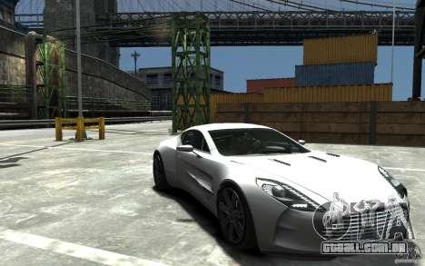 Aston Martin One 77 para GTA 4 vista de volta