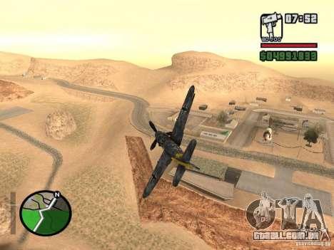 BF-109 G-16 para GTA San Andreas esquerda vista