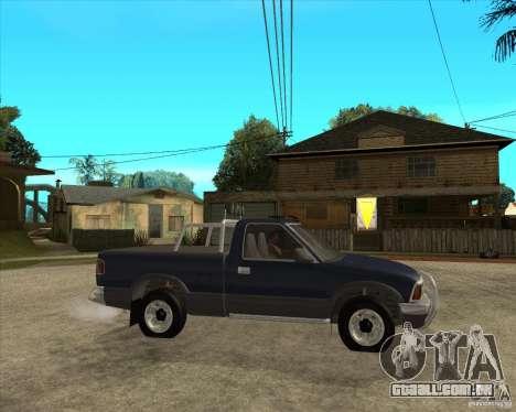 1996 Chevrolet Blazer pickup para GTA San Andreas vista direita