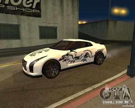 Nissan GT-R Pronto para GTA San Andreas vista traseira
