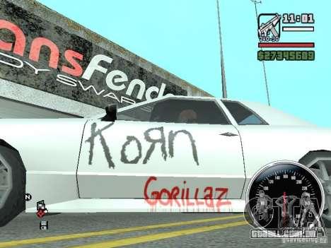 Vinil para Elegy para GTA San Andreas esquerda vista