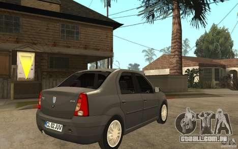 Dacia Logan Prestige 1.6 16v para GTA San Andreas vista direita