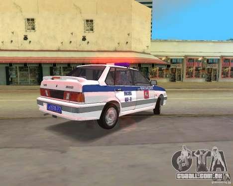 DPS VAZ 2115 para GTA Vice City deixou vista