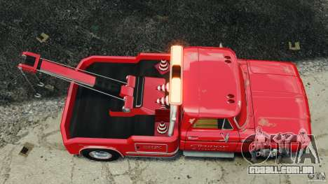 Chevrolet C20 Towtruck 1966 para GTA 4 vista direita