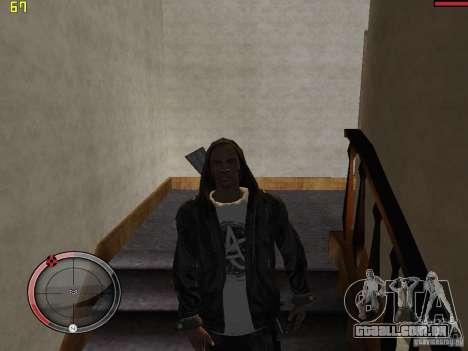 Walk style para GTA San Andreas quinto tela