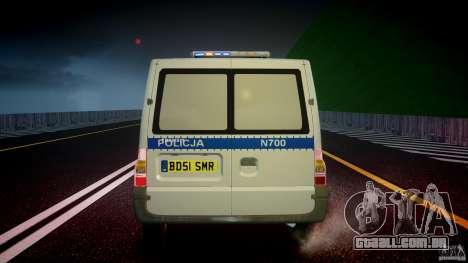 Ford Transit Polish Police [ELS] para GTA 4 vista inferior