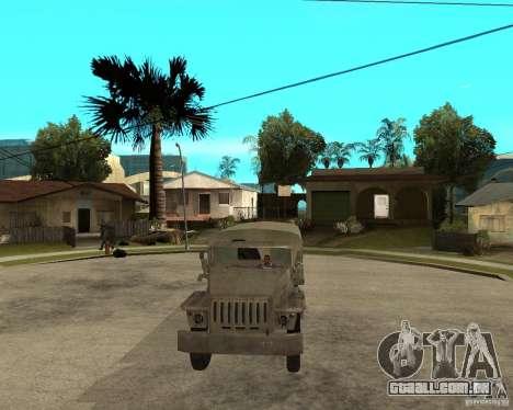 Ural-4230 para GTA San Andreas vista traseira