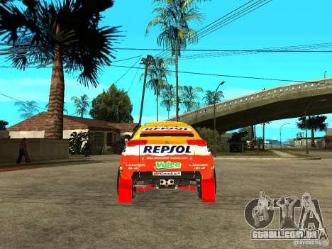 Mitsubishi Racing Lancer from DIRT 2 para GTA San Andreas traseira esquerda vista
