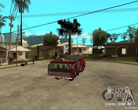 Rosenbauer Simba 8x8 GFLF FDSA para GTA San Andreas vista traseira