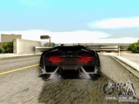 Citroen GT Gymkhana para GTA San Andreas vista interior