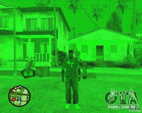 Dispositivo de visão noturna óculos de Splinter  para GTA San Andreas segunda tela