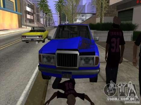 Cores mais brilhantes para carros para GTA San Andreas quinto tela