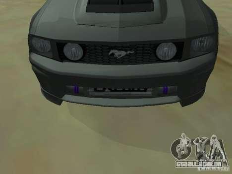 Ford Mustang GTS para GTA San Andreas vista direita