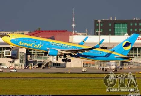 Boeing 767 de telas de carregamento para GTA San Andreas segunda tela