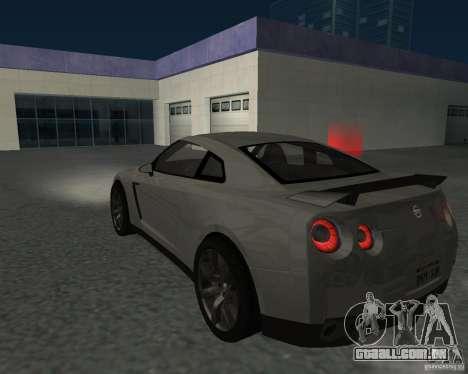 Nissan GT-R Pronto para GTA San Andreas esquerda vista
