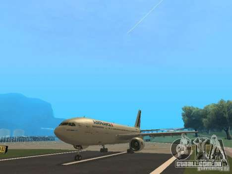 Airbus A300-600 Air France para GTA San Andreas esquerda vista