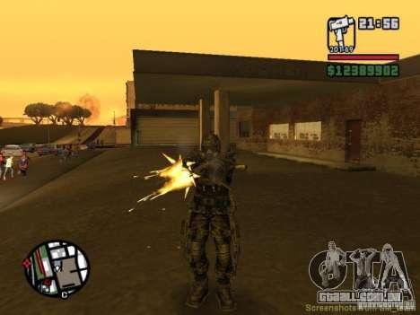 Perseguidor militar em èkzoskelete para GTA San Andreas quinto tela