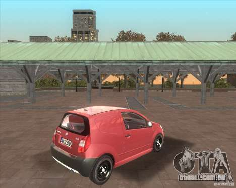 Citroen C2 workers car para GTA San Andreas vista traseira