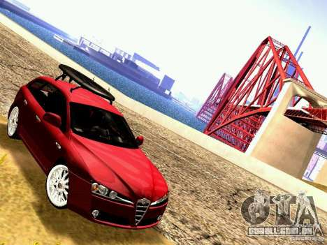 Alfa Romeo 159 Sportwagon para GTA San Andreas traseira esquerda vista