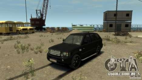 Land Rover Range Rover Sport para GTA 4 traseira esquerda vista