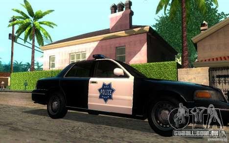 Ford Crown Victoria para GTA San Andreas esquerda vista