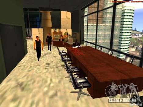 20th floor Mod V2 (Real Office) para GTA San Andreas sexta tela