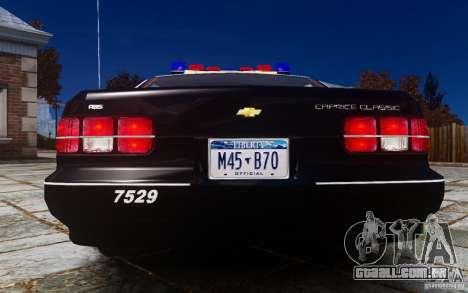 Chevrolet Caprice 1991 Police para GTA 4 vista direita