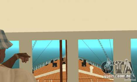 RMS Titanic para GTA San Andreas vista superior
