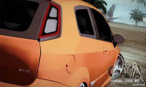 Fiat Punto Evo 2010 Edit para GTA San Andreas vista direita
