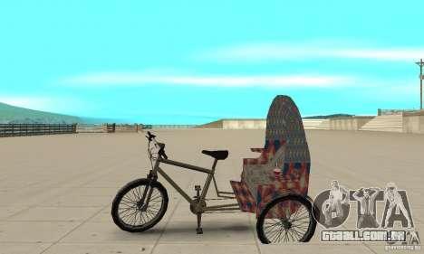 Manual Rickshaw v2 Skin5 para GTA San Andreas esquerda vista